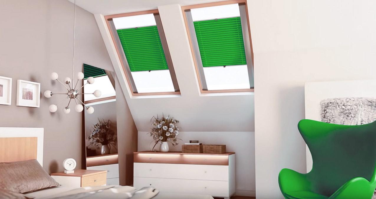 Plisy dachowe – osłaniamy poddasze przed słońcem